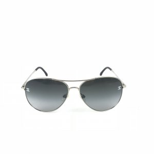 Silver Chanel Sunglasses
