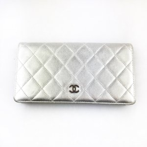Silver Chanel Wallet