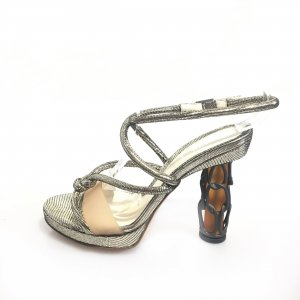 Silver Fendi High Heel