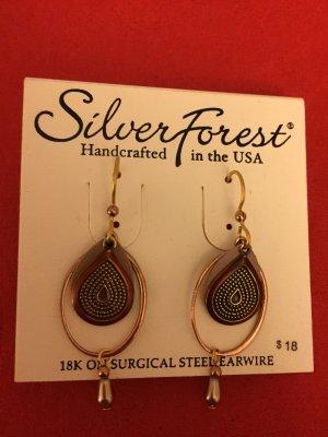 Silver Forest Ohrringe aus den USA - 14K Gold Overlay