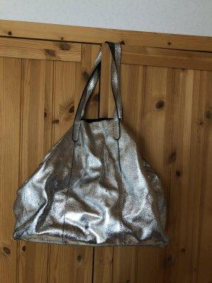 Silver glitzernde Shoppertasche