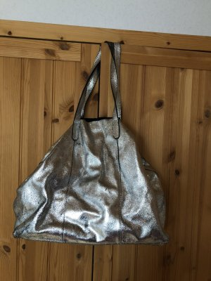 Silver glitzernde Shoppertasche