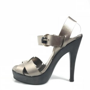 Gucci High-Heeled Sandals silver-colored
