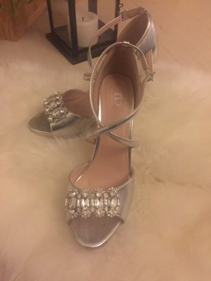 True Decadence High Heel Sandal silver-colored-light grey