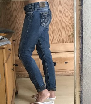 Silver Jeans Low Rise jeans donkerblauw-leigrijs