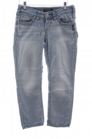 Silver Jeans 3/4-jeans blauw casual uitstraling