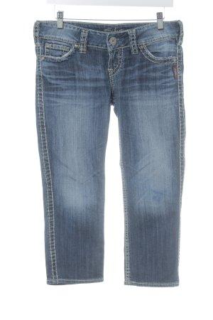 Silver Jeans Jeans a 7/8 blu scuro stile da dandy