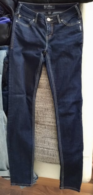 Silver Jeans Tube jeans donkerblauw