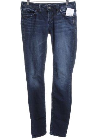 Silver Jeans Skinny Jeans dunkelblau-wollweiß Washed-Optik