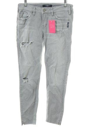 Silver Jeans Skinny Jeans hellgrau Casual-Look
