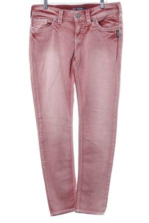 Silver Jeans Skinny Jeans karminrot meliert Casual-Look