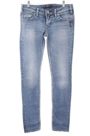 Silver Jeans Skinny Jeans stahlblau Washed-Optik