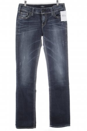 Silver Jeans Straight Leg Jeans dark blue casual look