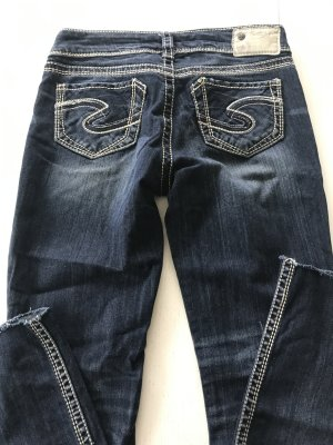 Silver Jeans Boot Cut Jeans dark blue mixture fibre