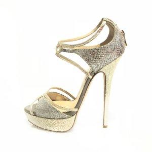 Silver Jimmy Choo Evening Shoe