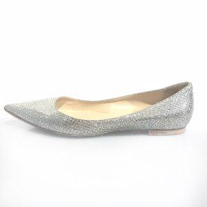 Silver Jimmy Choo Flat