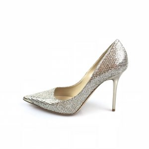 Jimmy Choo High-Heeled Sandals silver-colored