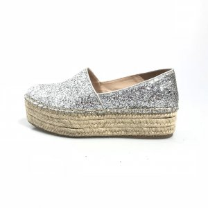 Miu Miu Espadrille sandalen zilver