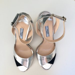 Silver Prada High Heel