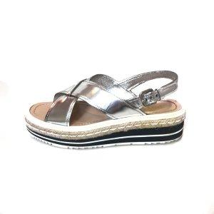 Silver Prada Sandal