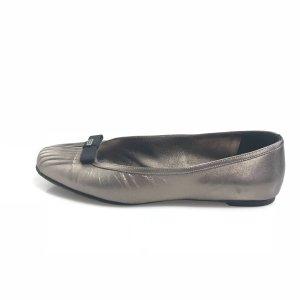Silver Salvatore Ferragamo Flat