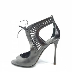 Sergio Rossi High-Heeled Sandals silver-colored