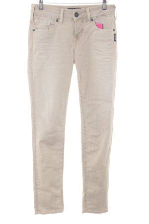 Silver Skinny Jeans hellbeige Casual-Look