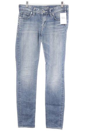 """Silver Skinny Jeans """"joni"""" blassblau"""