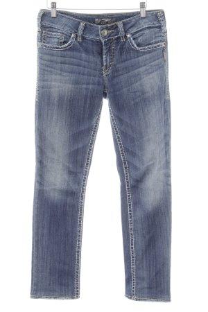 Silver Skinny Jeans kornblumenblau Casual-Look