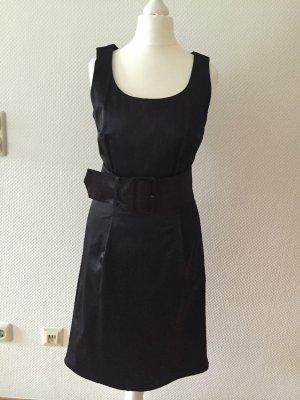 Silvester Abendkleid ETUIKLEID schwarz mit Gürtel