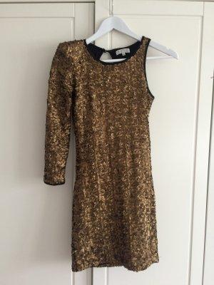 Silvester Kleid Gold Pailletten Bershka
