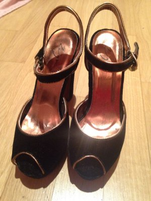 Silvester Schuhe schwarz Samt