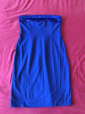 Silvester stahlblaues Bandeau Kleid Fornarina Gr. L