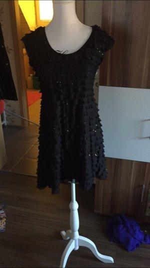 Silvesterkleid mit Pailletten und rüschen