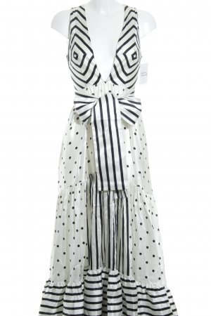 Silvia Tcherassi Maxi Dress cream-black spot pattern extravagant style