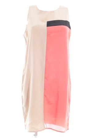 Silvian heach A-Linien Kleid beige-lachs Colourblocking