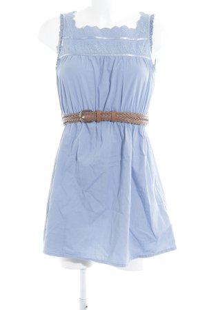 Silvian heach ärmellose Bluse neonblau Casual-Look