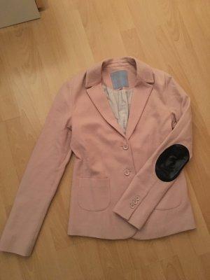 Silvian Heach Blazer altrosa rosa XS Patches schwarz Leder 34 36