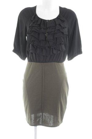 Silvian heach Bleistiftkleid schwarz-khaki Elegant