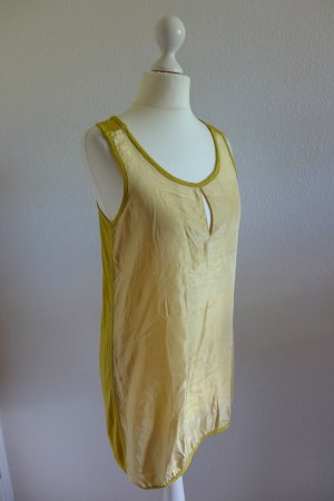 Silvian Heach Blogger Seide Long Top Shirt Oberteil Gr. XS gelb wie neu