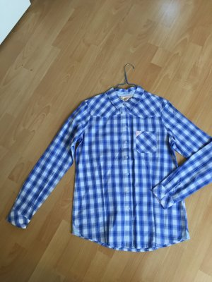 Silvian Heach Bluse kariert blau weiß Karo M 38 neu Etikett langärmlig