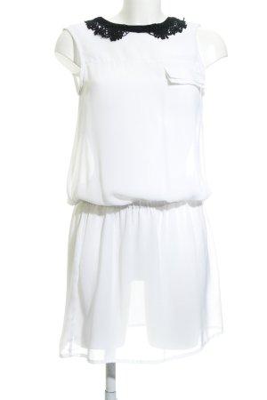 Silvian heach Blusenkleid weiß-schwarz Elegant