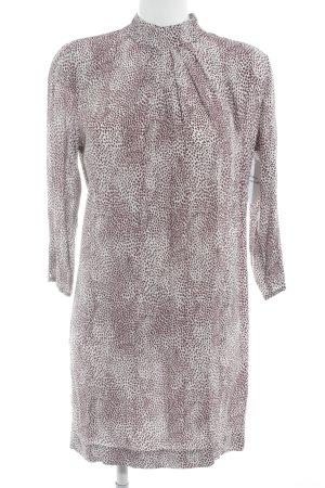 Silvian heach Blusenkleid wollweiß-braunrot abstraktes Muster Business-Look