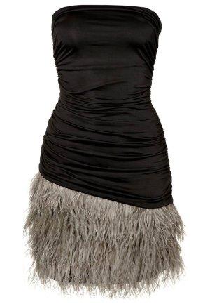 ★ Silvian Heach Bustierkleid mit Federn schwarz ★ UNGETRAGEN ★