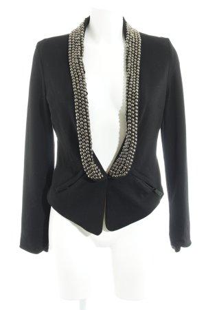 Silvian heach Jerseyblazer schwarz-silberfarben Elegant