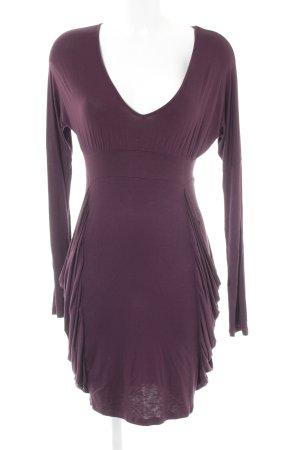 Silvian heach Langarmkleid braunviolett Casual-Look