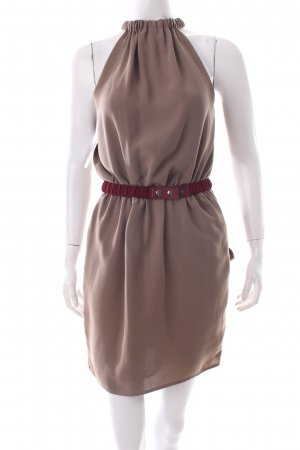 Silvian heach Minikleid khaki-bordeauxrot Party-Look
