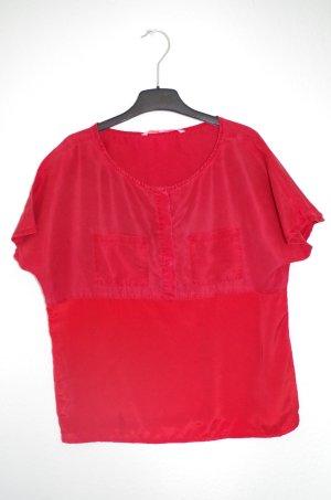 Silvian Heach rotes T-Shirt aus Seide