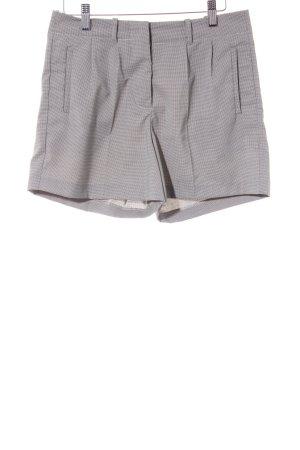 Silvian heach Shorts beige-schwarz Hahnentrittmuster Casual-Look