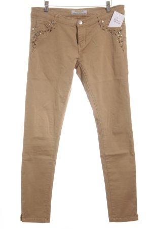 Silvian heach Slim Jeans camel Casual-Look